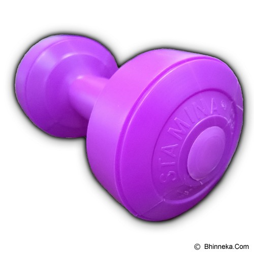 STAMINA 2x Plastic Dumbbell 1kg [ST-800-1P] - Purple - Barbell / Dumbbell